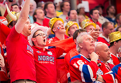 08.05.2013, Globe Arena, Stockholm, SWE, IIHF, Eishockey WM, Schweden vs Norwegen, im Bild Norge Norway fans fan supporter supportrar klack publik crowd // during the IIHF Icehockey World Championship Game between Sweden and Norway at the Ericsson Globe, Stockholm, Sweden on 2013/05/08. EXPA Pictures © 2013, PhotoCredit: EXPA/ PicAgency Skycam/ Johan Andersson..***** ATTENTION - OUT OF SWE *****