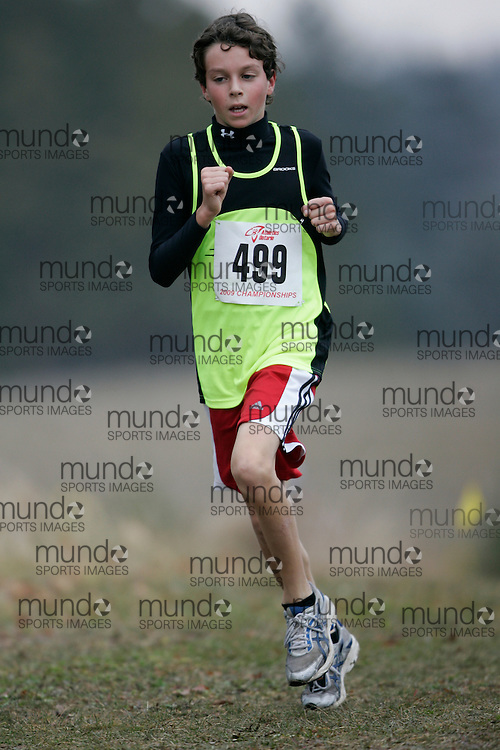 King City, Ontario ---09-11-15--- Alex Montesano of the Newmarket Huskies competes at the Athletics Ontario Cross Country Championships in King City, Ontario, November 16, 2009..GEOFF ROBINS Mundo Sport Images