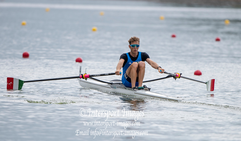 "Glasgow, Scotland, ""2nd August 2018"", Lightweigth Men's Single Scull, ITA LM1X, GORETTI, Martino, European Games, Rowing, Strathclyde Park, North Lanarkshire, © Peter SPURRIER/Alamy Live News"