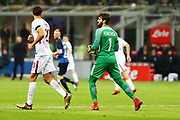 Alisson of AS Roma during the Italian championship Serie A football match between FC Internazionale and AS Roma on January 21, 2018 at Giuseppe Meazza stadium in Milan, Italy - Photo Morgese - Rossini / ProSportsImages / DPPI