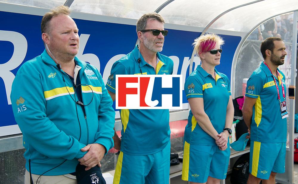 BREDA - Rabobank Hockey Champions Trophy<br /> Australia - Belgium <br /> Photo: headcoach Colin Batch and his staff.<br /> COPYRIGHT WORLDSPORTPICS FRANK UIJLENBROEK
