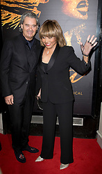 Tina Turner (right) and Erwin Bach arrives at the opening night of TINA, a new musical based on the life of the legendary artist at the Aldwych Theatre, London. Picture dated: Tuesday April 17, 2018. Photo credit should read: Isabel Infantes / EMPICS Entertainment.