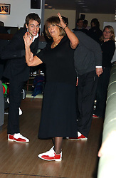 BEN GOLDSMITH and his mother LADY ANNABEL GOLDSMITH at the opening party for a new bowling alley All Star Lanes, at Victoria House, Bloomsbury Place, London on 19th January 2006.<br />