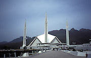 The faisal mosque in Islamabad, Pakistan, Asia