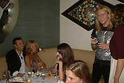 Elle MacPherson and Francisco Costa. Natalia Vodianova and Elle Macpherson host a dinner in honor of Francisco Costa (creative Director for women) and Italo Zucchelli (creative director for men)  of Calvin Klein. Locanda Locatelli, 8 Seymour St. London W1. ONE TIME USE ONLY - DO NOT ARCHIVE  © Copyright Photograph by Dafydd Jones 66 Stockwell Park Rd. London SW9 0DA Tel 020 7733 0108 www.dafjones.com