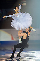 KELOWNA, BC - OCTOBER 24: Ice Dance competitors Kaitlin Hawayek and Jean-Luc Baker of the United States perform during the gala of Skate Canada International at Prospera Place on October 24, 2019 in Kelowna, Canada. (Photo by Marissa Baecker/Shoot the Breeze)