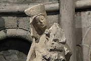 Madonna and Child, 13th century, incomplete sculpture, stone, Eglise St Germain des Pres, Paris, France. The statue was discovered in 1999 during excavations at Place de Furstenberg and found broken into three pieces. Founded as an Abbey in 542 the building was destroyed several times by the Normans and reconsecrated in 1163 by Pope Alexander III. Only the church survived the Abbey's destruction during the French Revolution. Picture by Manuel Cohen