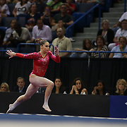 McKayla Maroney, Long Beach, California, winning the Vault during the Senior Women Competition at The 2013 P&G Gymnastics Championships, USA Gymnastics' National Championships at the XL, Centre, Hartford, Connecticut, USA. 17th August 2013. Photo Tim Clayton