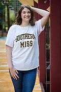 High school senior portrait of Callie Matthews in Abita Springs; photo ©2018, George H. Long