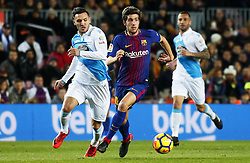 December 17, 2017 - Barcelona, Catalonia, Spain - Sergi Roberto during the La Liga match between FC Barcelona v Real Club Deportivo de La Coruna, in Barcelona, on December 17, 2017. (Credit Image: © Joan Valls/NurPhoto via ZUMA Press)