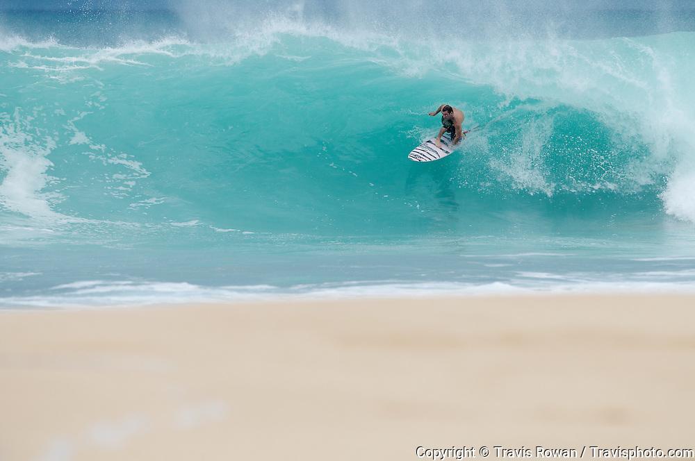 Backdoor barrel on Hawaii's North Shore.