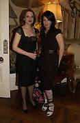 Rachel Kneebone and Anne Hardy. Dinner at the Italian Embassy in which the winner of the MaxMara Art Prize for Women is announced. Grosvenor Sq. London . 2 February  2006. © Copyright Photograph by Dafydd Jones 66 Stockwell Park Rd. London SW9 0DA Tel 020 7733 0108 www.dafjones.com