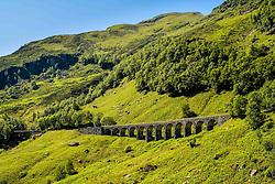 Railway viaduct in Glen Ogle, Stirlingshire, Scotland.<br /> <br /> (c) Andrew Wilson   Edinburgh Elite media