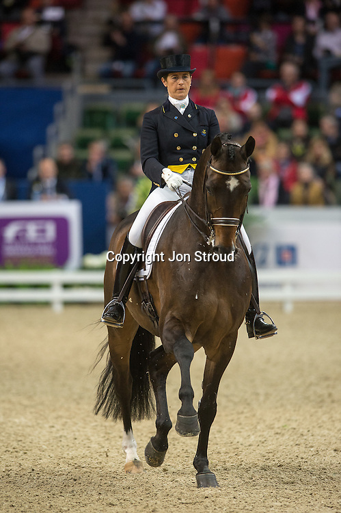Tinne Vilhelmson-Silfven (SWE) & Don Auriello - Reem Acra FEI World Cup Dressage Grand Prix - Gothenburg Horse Show 2013 - Scandinavium, Gothenburg, Sweden - 25 April 2013