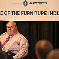 Thomas Wells | BUY at PHOTOS.DJOURNAL.COM<br /> Jerry Epperson describes the past, present and what he see sees the future of the furniture industry on Thursday.