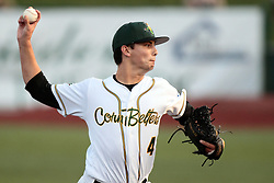 09 July 2015: <br /> Relief pitcher Jon Pusateri. Pete Rose night during a Frontier League Baseball game between the Schaumburg Boomers and the Normal CornBelters at Corn Crib Stadium on the campus of Heartland Community College in Normal Illinois