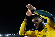 Oliver Ntcham greets the supporters at the end of the UEFA Europa League, Group E football match between SS Lazio and Celtic FC on November 7, 2019 at Stadio Olimpico in Rome, Italy - Photo Federico Proietti / ProSportsImages / DPPI