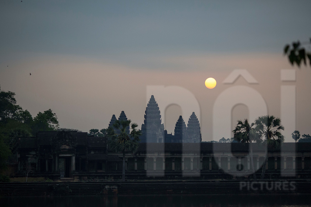 Temple of Angkor Wat at sunrise, Siem Reap, Cambodia, Southeast Asia
