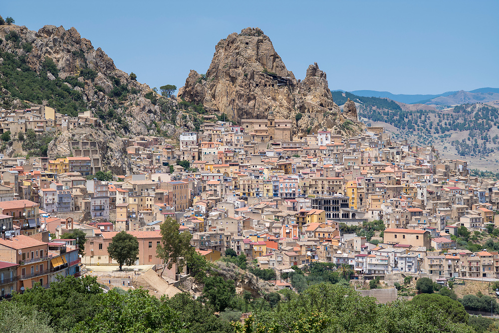 Ancient hill town of Gagliano Castelferrato in Northern Sicily, Italy