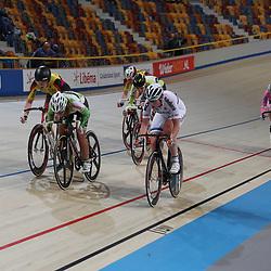 18-12-2016: Wielrennen: NK baanwielrennen: Apeldoorn   <br /> APELDOORN (NED) wielrennen     <br /> Kirsten Wild (Zwolle) pakt op de puntenkoers haar derde titel tijdens het Nederlands Kampioenschap. Zilver en brons bleven in Apeldoorn met Judith Bloem en Vera Koedooder