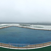 Penzance's Jubilee Pool was opened in 1935 to mark the Silver Jubilee of George V.  Today, it is one of the few remaining 1930s lidos in the country.  In fact, measuring 100 x 73 metres on its longest axes, the Jubilee Pool is Britain's largest surviving seawater lido. <br />