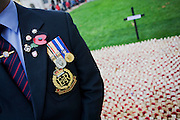 Serving Royal Military Policeman pays respects to fallen soldiers, killed during recent conflicts, seen during Remembrance weekend at Westminster Abbey, London.The Royal Military Police (RMP) are the Army's specialists in Investigations and Policing and are responsible for policing the military community worldwide.