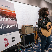 Visit Seattle Annual Meeting 2018. Cameron Lavi-Jones (musician), presented by Up Stream Music Event and 4U Gigs. Photo by Alabastro Photography.