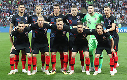 MOSCOW, July 11, 2018  Players of Croatia pose for a group photo prior to the 2018 FIFA World Cup semi-final match between England and Croatia in Moscow, Russia, July 11, 2018. (Credit Image: © Cao Can/Xinhua via ZUMA Wire)