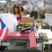 JUNE 28, 2016 --- COROZAL, PUERTO RICO<br /> Action on the production lines of Bluewater Defense in Corozal. The company makes pants for the US Army.<br /> (Photo by Angel Valentin/Freelance)