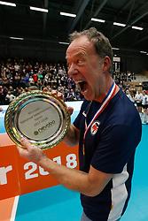 20180218 NED: Bekerfinale SV Land Taurus - Abiant Lycurgus, Hoogeveen <br />Eric Gras, headcoach of SV Land Taurus<br />©2018-FotoHoogendoorn.nl