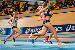 Nadine Visser in action on the 60 meter during the Dutch Indoor Athletics Championship on February 22, 2020 in Omnisport De Voorwaarts, Apeldoorn