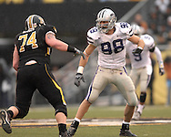 Defensive end Ian Campbell #98 of the Kansas State Wildcats.