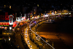Scarborough Goldwing Light Parade 2015 from the terrace of the Grand Hotel<br />
