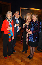 Left to right, SUE ROGERS, JOHN MILLER, LAVENDER RAULSTON and CLARE d'ABO at a reception hosted by Brian Ivory Chairman of the Trustees of The National Galleries of Scotland to commemorate Sir Timothy Clifford's 21 years of Director of the National Gallery of Scotland and his forthcoming retirement in January 2006, held at Christie's, King Street, London W1 on 6th December 2005.<br />