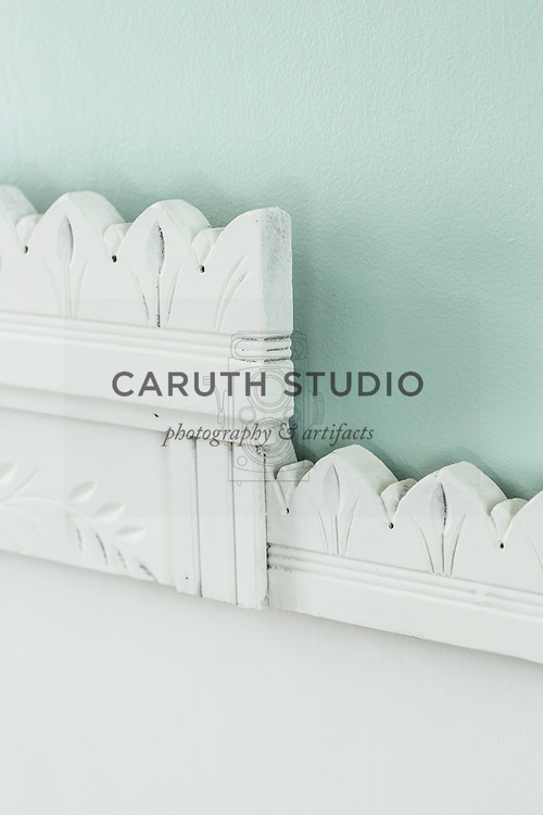 Salvage and paint headboard detail