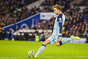 Tim Krul (GK) (Norwich) kicks the ball back into play during the Premier League match between Brighton and Hove Albion and Norwich City at the American Express Community Stadium, Brighton and Hove, England on 2 November 2019.