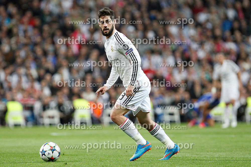 10.03.2015, Estadio Santiago Bernabeu, Madrid, ESP, UEFA CL, Real Madrid vs Schalke 04, Achtelfinal, R&uuml;ckspiel, im Bild Real Madrid&acute;s Isco // during the UEFA Champions League Round of 16, 2nd Leg match between Real Madrid and Schakke 04 at the Estadio Santiago Bernabeu in Madrid, Spain on 2015/03/10. EXPA Pictures &copy; 2015, PhotoCredit: EXPA/ Alterphotos/ Caro Marin<br /> <br /> *****ATTENTION - OUT of ESP, SUI*****