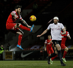 Romain Vincelot Leyton Orient's midfielder controls the ball in mid air - Photo mandatory by-line: Mitchell Gunn/JMP - Mobile: 07966 386802 - 18/02/2015 - SPORT - Football - London - Brisbane Road - Leyton Orient v Bradford City - Sky Bet League One