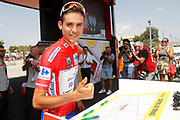Start, Rudy Molard (FRA - Groupama - FDJ) Red jersey, during the UCI World Tour, Tour of Spain (Vuelta) 2018, Stage 6, Huercal Overa - San Javier Mar Menor 155,7 km in Spain, on August 30th, 2018 - Photo Luis Angel Gomez / BettiniPhoto / ProSportsImages / DPPI