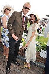 RHYS IFANS and ANNA FRIEL at the 3rd day of the 2012 Glorious Goodwood racing festival at Goodwood Racecourse, West Sussex on 2nd August 2012.
