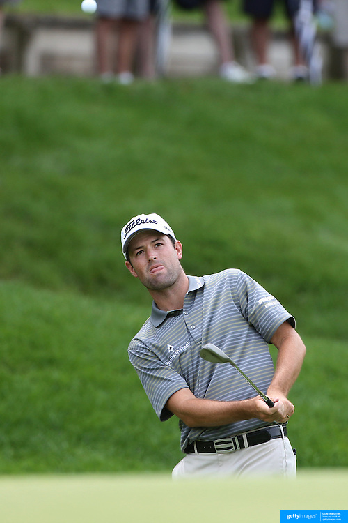 Robert Streb, USA, in action during the first round of the Travelers Championship at the TPC River Highlands, Cromwell, Connecticut, USA. 19th June 2014. Photo Tim Clayton