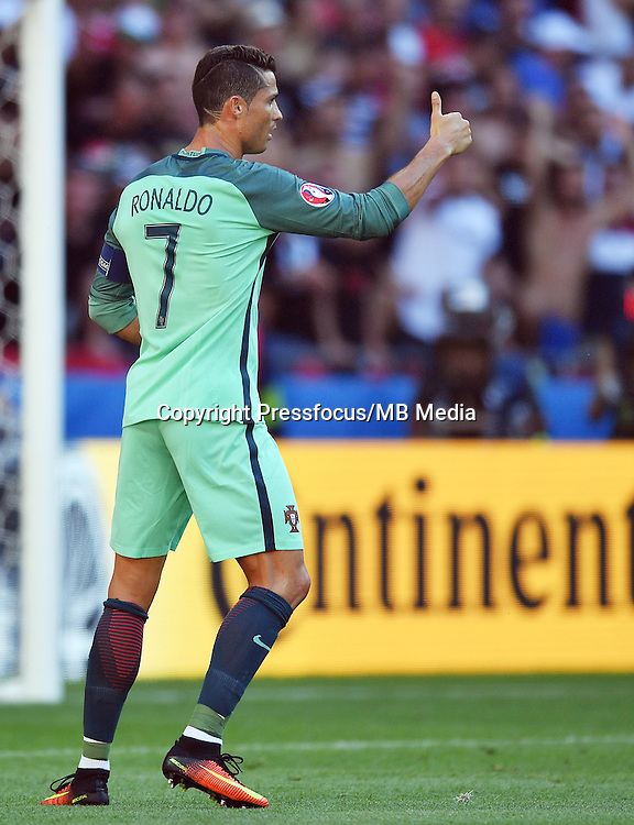 2016.06.22 Lyon<br /> Pilka nozna Euro 2016<br /> mecz grupy F Wegry - Portugalia<br /> N/z Cristiano Ronaldo<br /> Foto Lukasz Laskowski / PressFocus<br /> <br /> 2016.06.22<br /> Football UEFA Euro 2016 group F game between Hungary and Portugal<br /> Cristiano Ronaldo<br /> Credit: Lukasz Laskowski / PressFocus