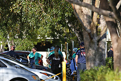 September 13, 2017 - Hollywood Hills, FL, USA - The Rehabilitation Center at Hollywood Hills as patients are evacuated after a loss of air conditioning due to Hurricane Irma on Wednesday, Sept. 13, 2017. Five residents of the nusring home died after after falling ill. (Credit Image: © Amy Beth Bennett/TNS via ZUMA Wire)