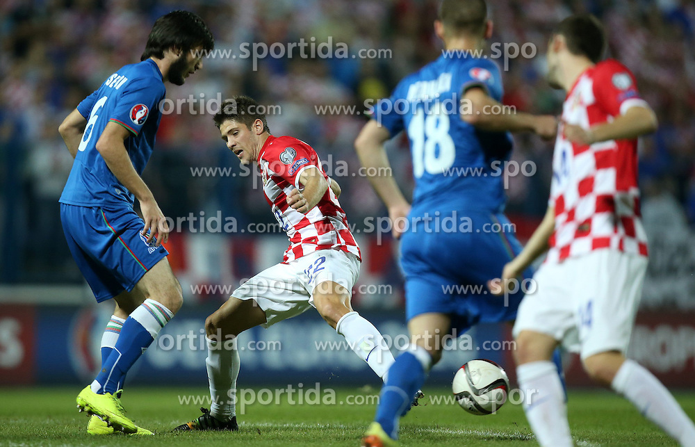 13.10.2014, Stadion Gradski vrt, Osijek, CRO, UEFA Euro Qualifikation, Kroatien vs Aserbaidschan, Gruppe H, im Bild Andrej Kramaric // during the UEFA EURO 2016 Qualifier group H match between Croatia and Azerbaijan at the Stadion Gradski vrt in Osijek, Croatia on 2014/10/13. EXPA Pictures &copy; 2014, PhotoCredit: EXPA/ Pixsell/ Igor Kralj<br /> <br /> *****ATTENTION - for AUT, SLO, SUI, SWE, ITA, FRA only*****