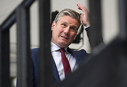 © Licensed to London News Pictures. 04/09/2019. London, UK. Shadow Brexit secretary KEIR STARMER MP is seen during a television interview in Westminster, London. British Prime Minister Boris Johnson has a called for a general election after losing his first commons vote and losing his majority, removing his control of parliament. Photo credit: Ben Cawthra/LNP