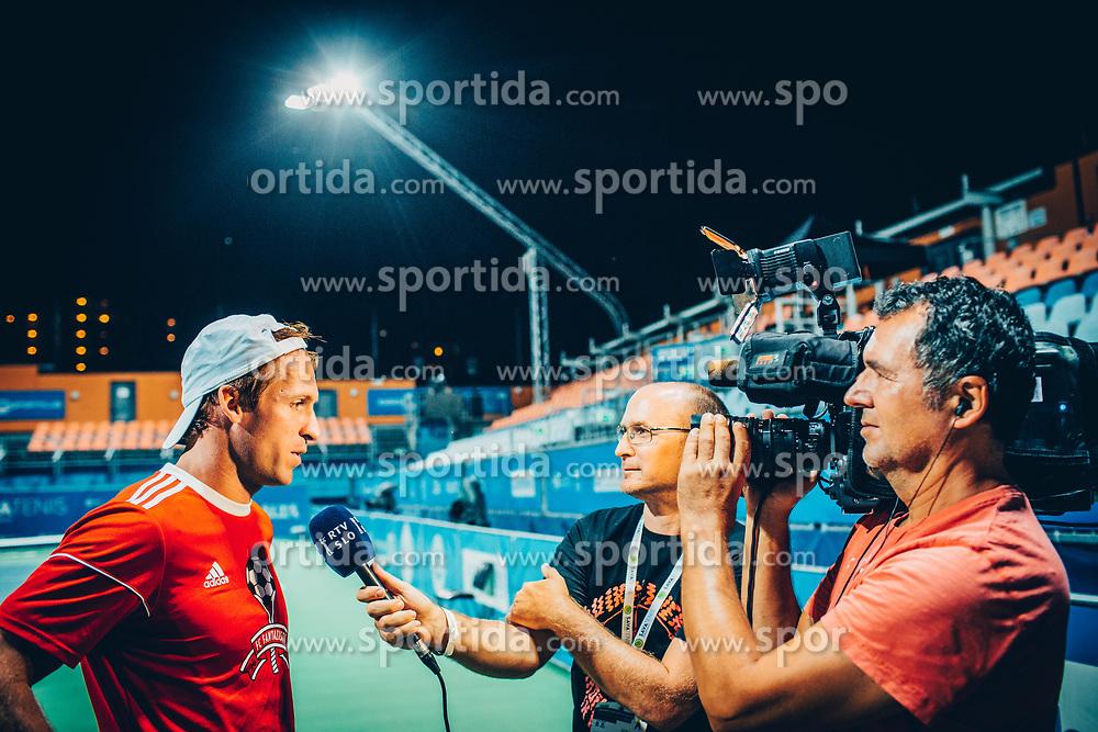 Grega Zemlja's official retirement at Tennis tournament  ATP Challenger Zavarovalnica Sava Slovenia Open 2017, on August 11, 2017 in Sports centre, Portoroz/Portorose, Slovenia. Photo by Vid Ponikvar / Sportida