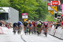July 23, 2017 - Seraing, BELGIUM - Danish Michael Morkov of Katusha-Alpecin pictured during the sprint in the second stage of the 38th edition of the Tour de Wallonie (Ronde van Wallonie), 191,5km from Chaudfontaine to Seraing, Sunday 23 July 2017. This year's edition of the Tour de Wallonie takes plave from 22 to 26 July. BELGA PHOTO LUC CLAESSEN (Credit Image: © Luc Claessen/Belga via ZUMA Press)