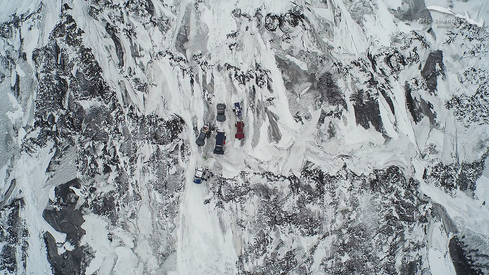 Aerial image of Holuhraun volcano eruption, Bardarbunga volcanic system, Iceland. Screenshot from 4K video taken using prototype DJI Phantom 3 Professional. Photo by Eric Cheng / DJI and Ferdinand Wolf / Skynamic.