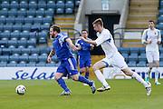 - St James (blue) v NCR (white) North of Tay Cup (sponsored by Evening Telegraph) Cup Final at Dens Park <br /> <br />  - &copy; David Young - www.davidyoungphoto.co.uk - email: davidyoungphoto@gmail.com