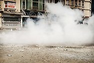 "Police shooting ""CS Tear-gas"" canisters in Taksim Square. After using around 130,000 gas canisters since the protests began three weeks ago, the Government is now going on an Emergency Auction to buy 100,000 new ones."